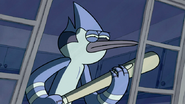 S3E04.321 Mordecai with a Baseball Bat