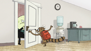 S7E03.064 Rigby Going to Lock the Door
