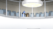 S6E26.157 Mordecai and Rigby Planning to Watch the Operation