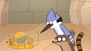 S7E11.149 Mordecai and Rigby Looking at the Sleep Cycle Race Course Model