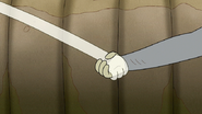 S7E08.175 Muscle Man and HFG Holding Hands