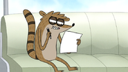 S7E21.002 Rigby Looking at What He Has Left