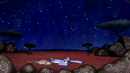 S6E13.075 Mordecai and Rigby Collapses from Exhaustion