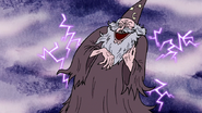 S3E04.237 The Wizard Laughing Evilly with Lightning Behind