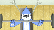 S5E01.034 Mordecai Lifting Weights