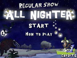 All Nighter Title Screen