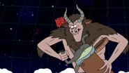 S8E23.493 Krampus Shoving Muscle Man into His Basket