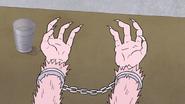 S7E09.167 Werewolf Pops Seeing He is Wearing Handcuffs