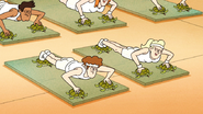 S6E15.094 People Doing Yoga on Turtles