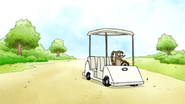 S7E21.145 Rigby Losing Control of the Cart