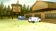 S6E12.112 Skips' Van Parking at the Park Managers' Lodge