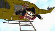 S7E36.255 Rigby Falling Out of the Helicopter
