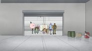 S8E13.025 The Park Crew Entering the BHM Racer Garage