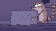 S7E24.037 Rigby Fluffing His Pillow