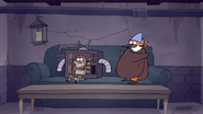 S7E09.324 Mordecai and Rigby in the Chocolate Witch's Basement