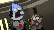 S6E24.384 Mordecai and Rigby's Reaction Towards the Incoming Moon