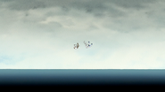 S6E27.111 Mordecai and Rigby Falling Into the Ocean