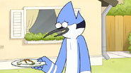 S6E20.252 Mordecai Looking at the Leftover Cake