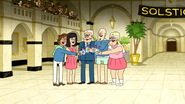 S4E31.048 Five Country Club Members Clinking Glasses