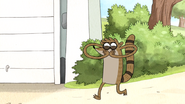 S6E06.037 Rigby Making Fart Noises and Walking Backward