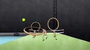 S4E20.198 Benson Hits a Tennis Balls