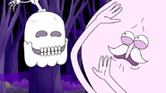 S6E04.071 Skeleton Hi-Five Being Spit Out