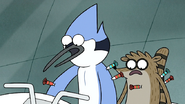 S7E05.385 Mordecai and Rigby Hit with Knockout Darts Again