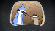 S7E10.015 Mordecai and Rigby Seeing Party Horse Sad