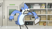 S8E17.012 Mordecai Shocked to See Rigby Gone
