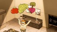S6E26.010 Sensai Throwing Vegetables in the Air