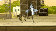 S6E17.182 Mordecai and Rigby Clapping and Stomping