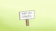 S2E11.060 Keep Off Grass Sign