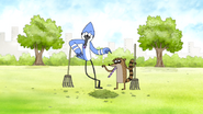 S4E36.050 Mordecai and Rigby Party Horn Talking