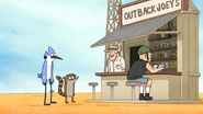 S6E13.042 Outback Joey Tells Mordecai and Rigby Where the Airport Is