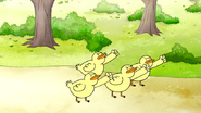 S6E24.157 Baby Ducks Fist Pumping