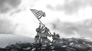 S6E21.158 Raising the Flag on Iwo Jima, Regular Show Style
