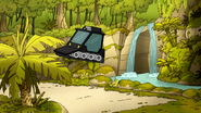 S6E24.224 Extreme Cart Coming Out of the Waterfall