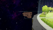 S8E02.004 Reaperbot Ship Entering the Park Dome