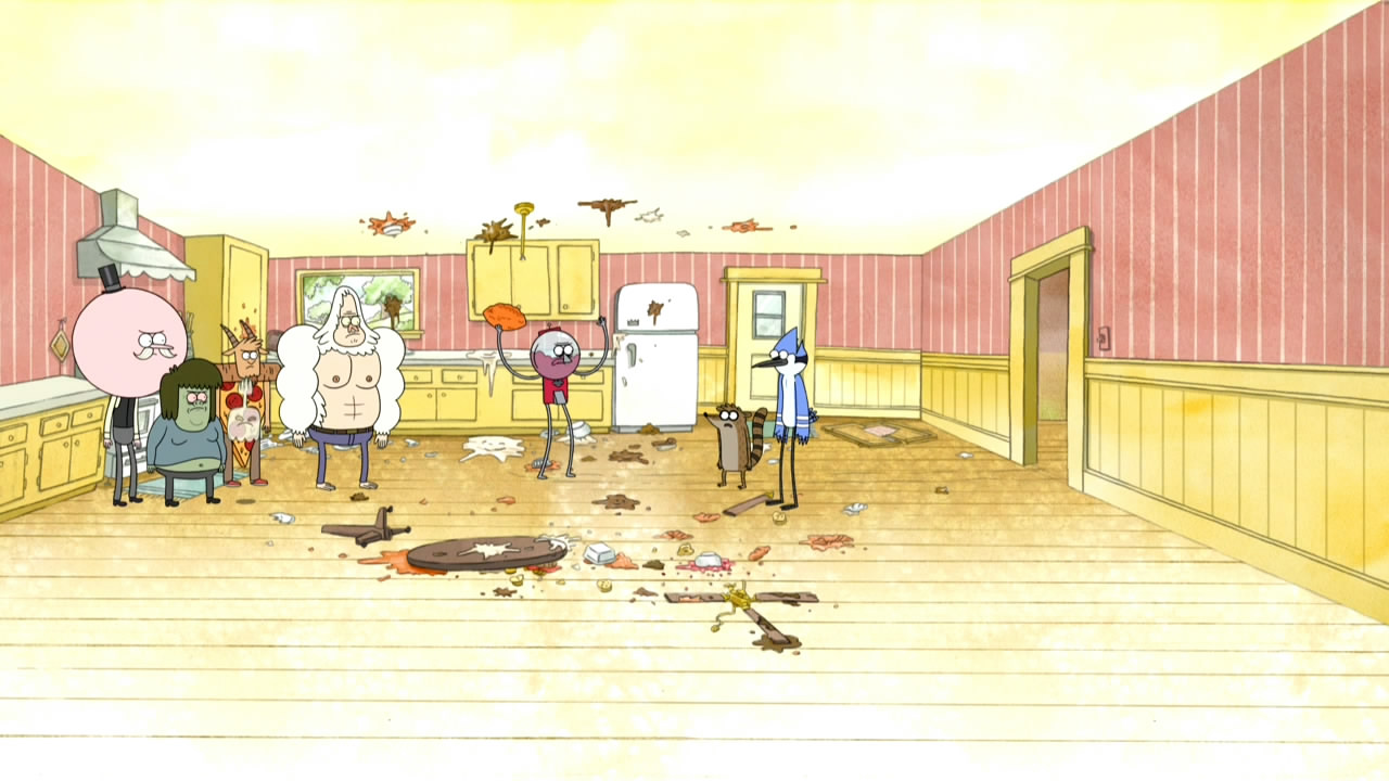 The Kitchen Show image - s5ep12aftermath of the football in the kitchen