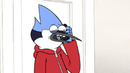 S6E10.078 Mordecai Talking Nervously to CJ on the Phone