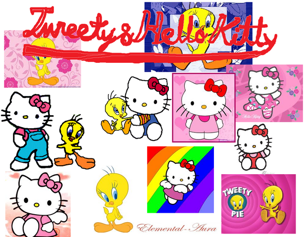 File:Tweety hello kitty all.png