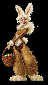 NPC rabbit lady