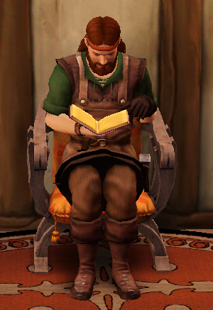 File:Blacksmith reading a Manual.png