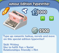 Amour Edition Typewriter
