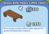 Grizzly Belle Wagon Coffee Table