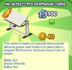 MrArtsyProDraftsmanTable