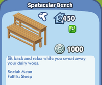 Spatacular Bench