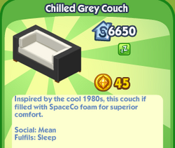 Chilled Grey Couch