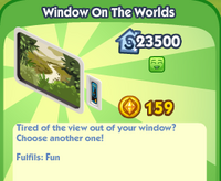 Window on the worlds