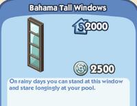 Bahama tall Windows